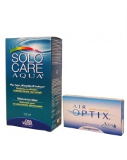 Zestaw: Air Optix Aqua 6 szt. + Solo Care Aqua 360 ml