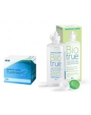 ZESTAW: Pure Vision 2 HD + Biotrue 300 ml