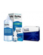 Pure Vision 6 szt. + Renu Multiplus 360 ml + krople Renu 8 ml